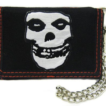 Misfits Tri-Fold Wallet With Chain
