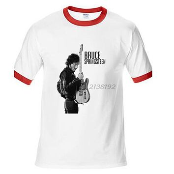 bruce springsteen dance in the dark vintage men fashion t shirt summer style t man t-shirt male top tees