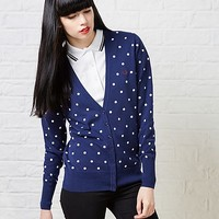 Fred Perry Polka Dot Cardigan | ARK