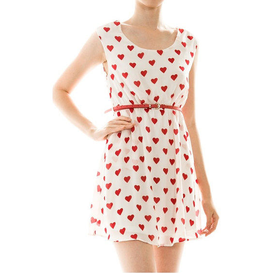 Red Heart Dress Valentines Anchor Pin Up From MoxieMadness On