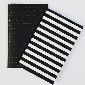 Pocket Notebook Set of 2 - Polka/Stripes