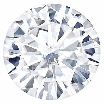 Certified Round Forever One Charles & Colvard Loose Moissanite Stone - 1.25 Carat - D Color - VVS1 Clarity