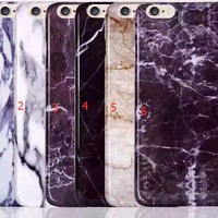 Marble Stone Grain Iphone 7 se 5s 6s 6 Plus Cases Cover + Gift Box