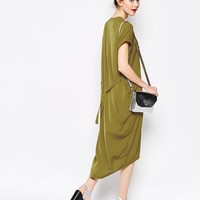 Monki Wrap Front Dress at asos.com