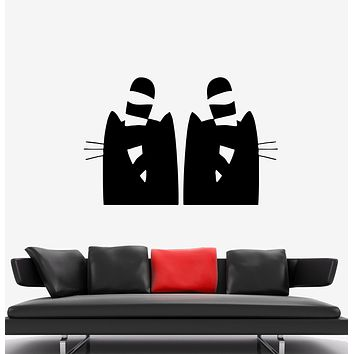 Wall Decal Cats Love Romance Couple Pets Vinyl Sticker (ed1340)