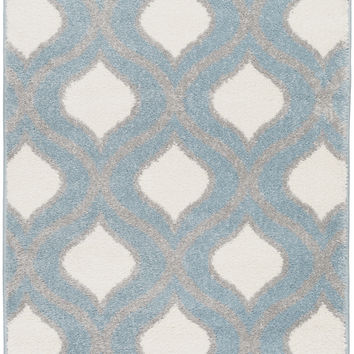 Surya Horizon Geometric Area Rug Blue