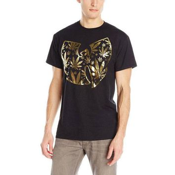 ESBGQ9 Wu-Tang Clan - Pot Leaf Clan Logo Adult T-Shirt