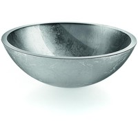 LB Round Glass Vessel Sink Bowl Above Counter Sink Lavatory Vanity Cabinet