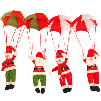 Santa Coming Christmas Home Ceiling Decorations Santa Claus Christmas Hanging Pendant Christmas Decoration Supplies