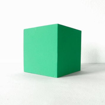 Le Corbusier Green Wooden Cube