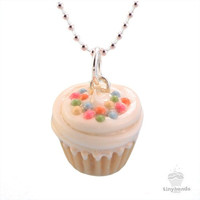 Scented Vanilla Sprinkles Cupcake Necklace