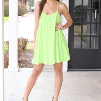 Ahead Dress - Lime