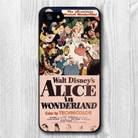 Alice In Wonderland Vintage Film Poster Case For iPhone