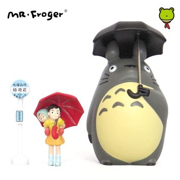 Mr.Froger Studio Ghibli Toy Set Miyazaki Hayao Umbrella Japanese Anime Action Figures Miniature Figurines Chibi Animal Kawaii