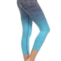 Yoga Capri Pants - Blue
