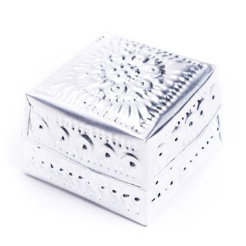 Pressed Tin Keepsake Box (8cm)