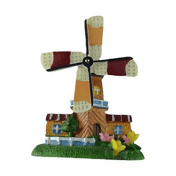 Holland Souvenir Kitchen Magnet Tulips Windmill