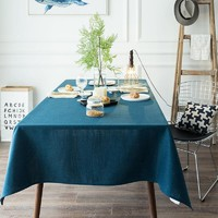 Blue Indoor / Outdoor Tablecloth