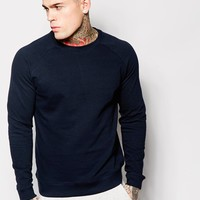 ASOS Sweatshirt With Crew Neck & Raglan Sleeves