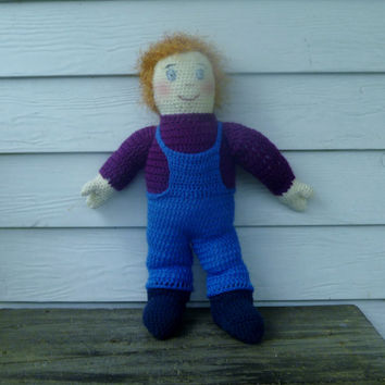 Crochet Ricky Boy Doll/Amigurumi Doll/ Toy