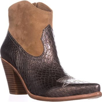 Donald J Pliner Pablo Western Ankle Boots, Platino, 9.5 US