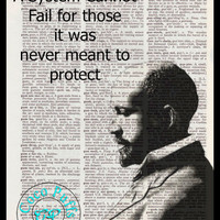 Du Bois Altered Art Bliss Graphics with Quote Vintage Dictionary Page Art Print Upcycled Page Print