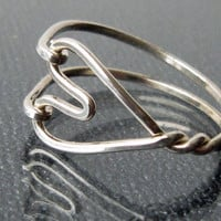 Twisted Heart Sterling Silver hand crafted by TwilightEyesStudio