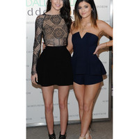 Spotted On Celeb | FINDERS KEEPERS - RISE AND FALL PLAYSUIT IN NAVY SPOTTED ON KYLIE JENNER