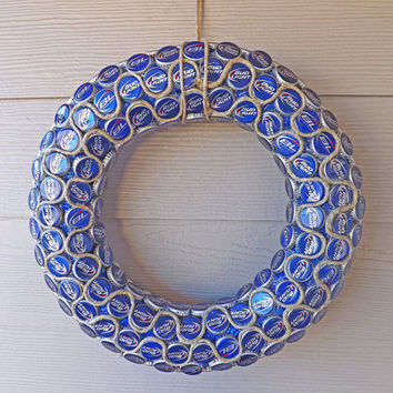 Bottle Cap Wreath, Bud Light Bottle Cap Wreath
