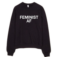 FEMINIST AF Crewneck Fleece Raglan - Shop Jeen - powered by Hingeto