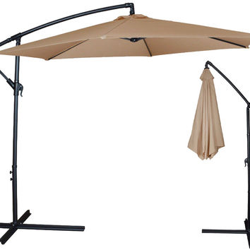 Clevr 10ft Offset Patio Umbrella