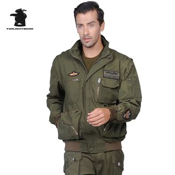 Military Men's Suits (jacket+pant) Detachable Sleeves American Air Force Pilots Army Jacket Men Clothing Suit  M~3XL D35FS7717
