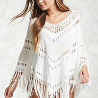 Open-Knit Kaftan Cover-Up