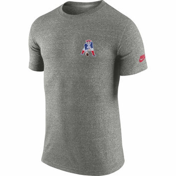 New England Patriots Nike Rewind Cut Back T-Shirt – Gray