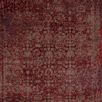 "Loloi Rugs - Viera - 2'-5"" X 7'-7"" - Red / Taupe"