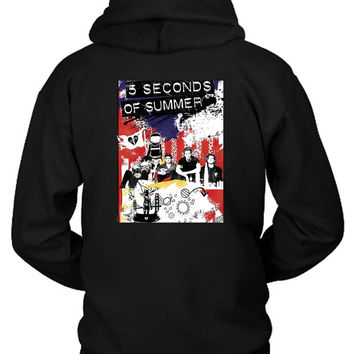 5Sos Tour Roadshow Poster Hoodie Two Sided