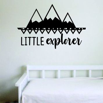 Little Explorer Wall Decal Sticker Bedroom Room Art Vinyl Home Decor Inspirational School Nursery Playroom Baby Kids Adventure Mountains