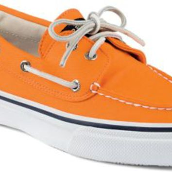 Sperry Top-Sider Bahama Varsity 2-Eye Boat Shoe Orange, Size 9M  Men's