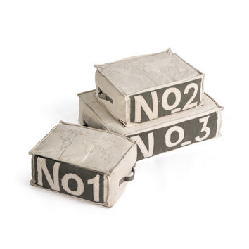 Numeral Poufs - Set of Three