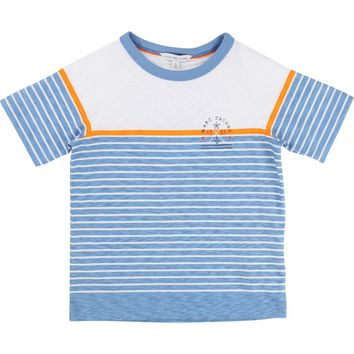 Little Marc Jacobs Boys Blue Striped T-Shirt