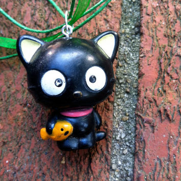 Upcycled Hello Kitty Chococat Repurposed Necklace Holiday Hanukkah Christmas Gifts Stocking Stuffer