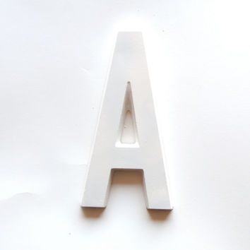 "Large Wall Monogram 8"" Alphabet Typography Plaster Sign Letter, A"