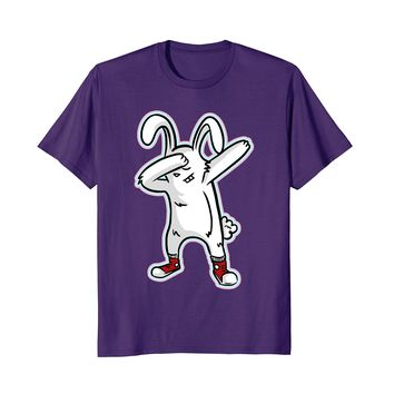 Funny Dabbing Easter Bunny T-Shirt Cute Dab Dance Rabbit Tee