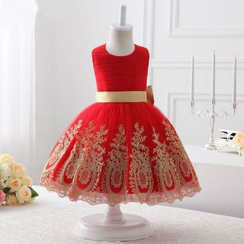 Flower girl dresses red tulle flower girl dress communion dresses