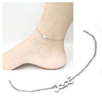 Skull Anklets stainless steel Jewelry