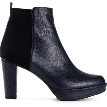 Stuart Weitzman contrasting panels ankle boots