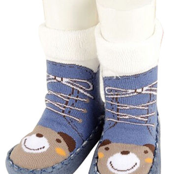 Antiskid Baby Autumn Winter Cartoon Bootie Baby Shoes Toddler Shoes E