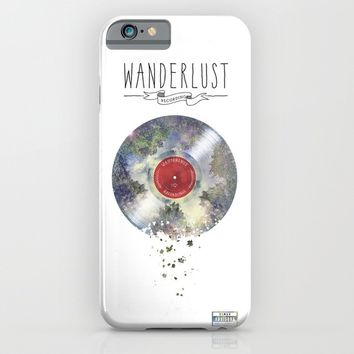 Wanderlust recordings iPhone & iPod Case by HappyMelvin