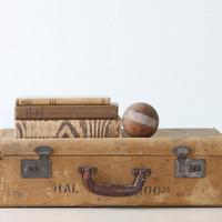 Vintage Canvas Suitcase