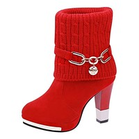 women's boots winter warm high heel  !!Free shipping!!